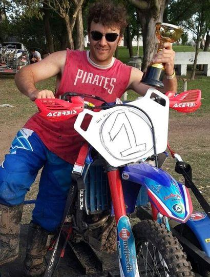El destacado piloto local ganó dos campeonatos del Enduro Baires.