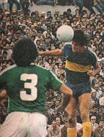 Boca y Sarmiento se midieron a comienzos de los '80.