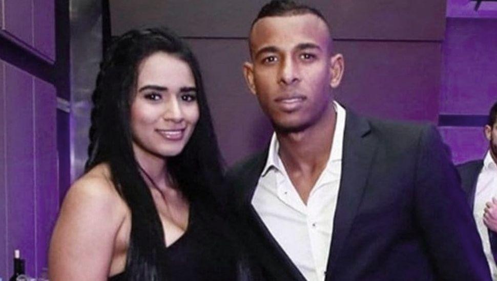 Sebastián Villa y Daniela Cortez cuando convivían. La mujer denunció al jugador de Boca por violencia de género.