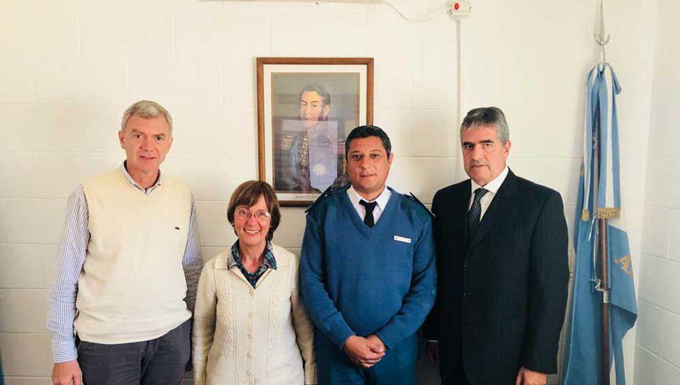 Los concejales Javier Prandi, Olga Prieto y Andrés Rosa fueron recibidos por Mauricio Castro, director de la Unidad Penitenciaria 49, y luego hicieron una recorrida por las instalaciones.