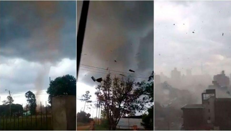 Fuerte tornado en Misiones provocó voladura de techos y caída de árboles