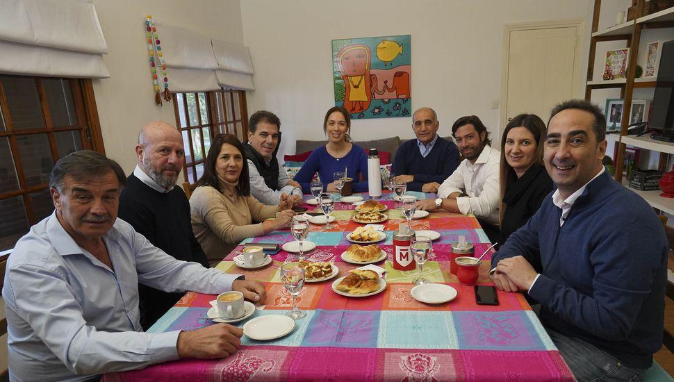 Vidal desayunó con precandidatos a diputados nacionales de Juntos por el Cambio