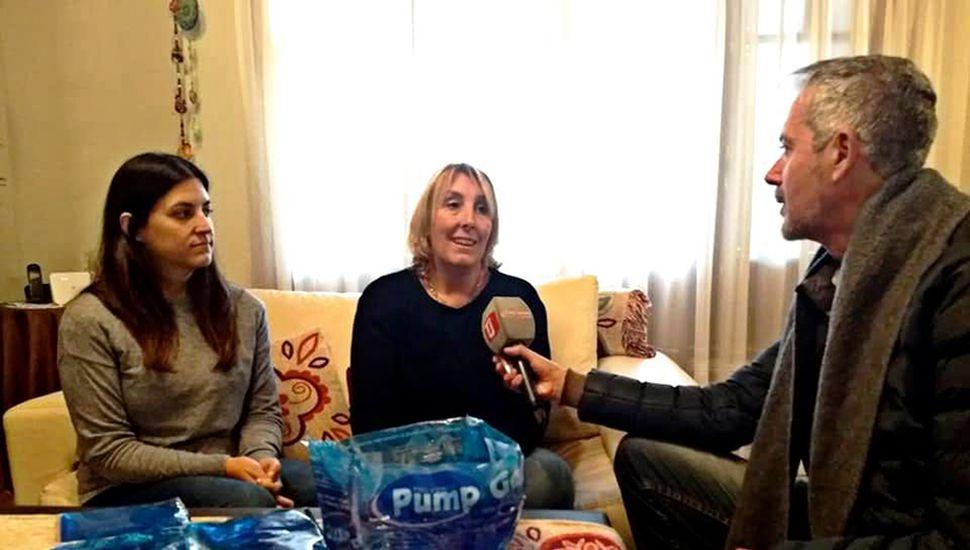 Lía Cannarozzo y Lorena Bonet, durante la entrevista con TeleJunín.