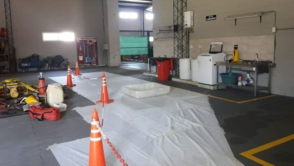 Nuevo protocolo en el cuartel de Bomberos de Rojas