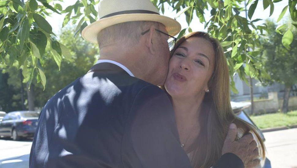 María Eugenia Vidal visitó la Comisaría de la Mujer en Ameghino