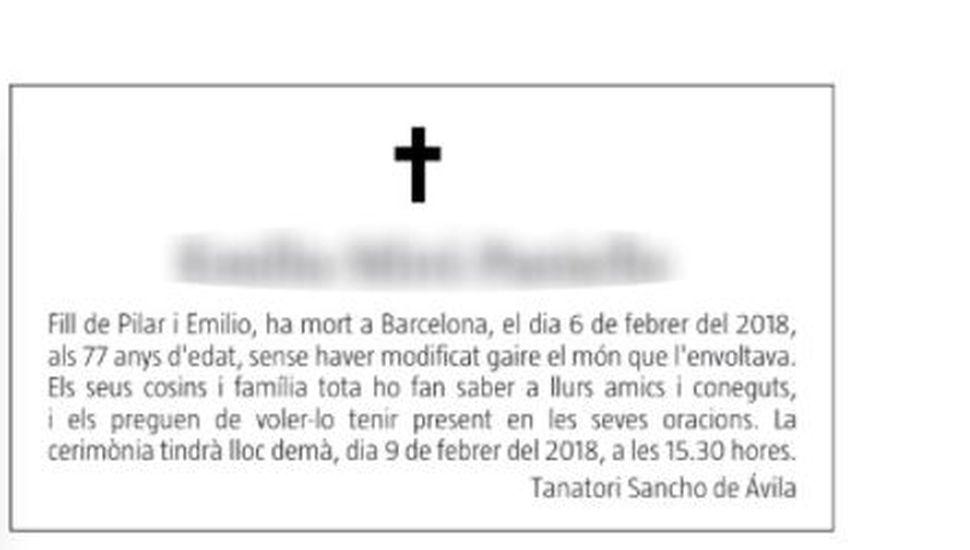 """El insólito obituario español: """"Deja este mundo sin haber aportado nada de interés"""""""