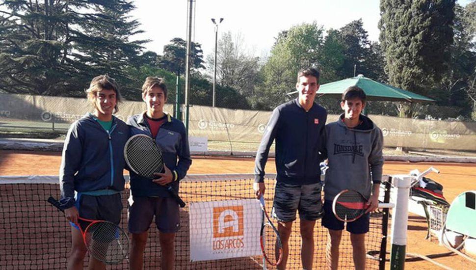 Gastón Tonello, Juan Gonzalez Paiva, Nicolás Gonzalez Vilña y Santiago Bramajo.