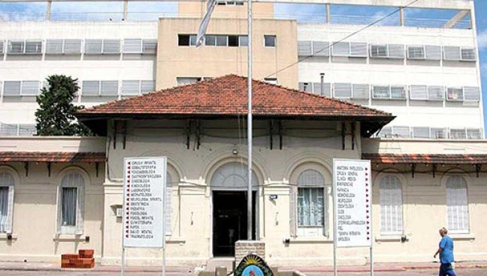 Frente del Hospital Interzonal General de Agudos.