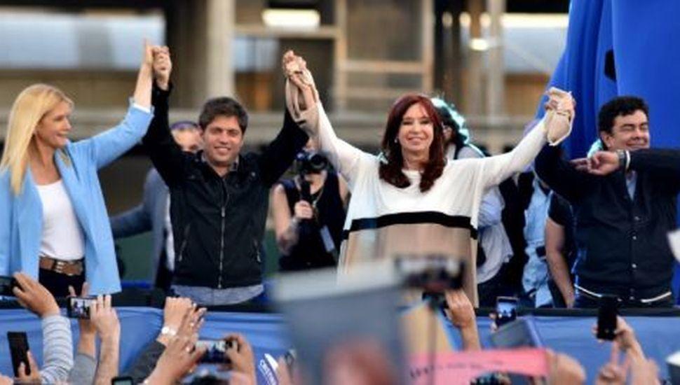 Cristina Kirchner cierra la campaña bonaerense con Axel Kicillof y Verónica Magario