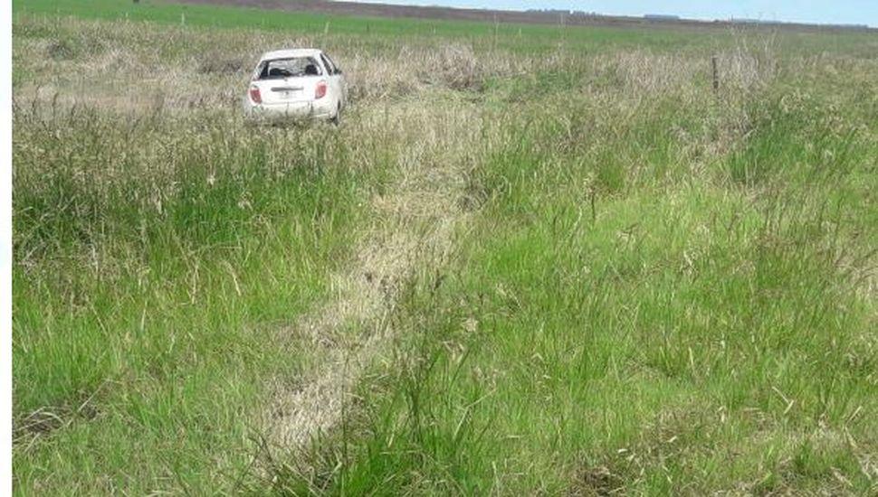Lincoln: una mujer resultó ilesa tras un vuelco en ruta 50