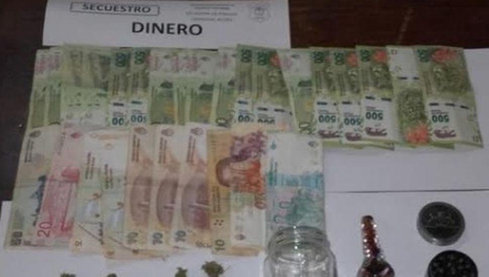 Operativo en Rojas: secuestran marihuana y dinero