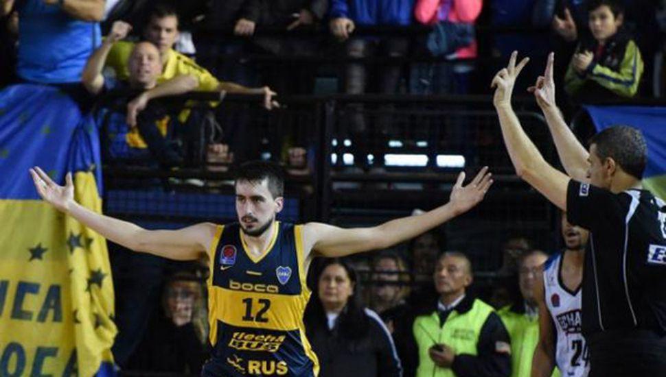 Lucas Gargallo, la figura de Boca en el quinto juego.