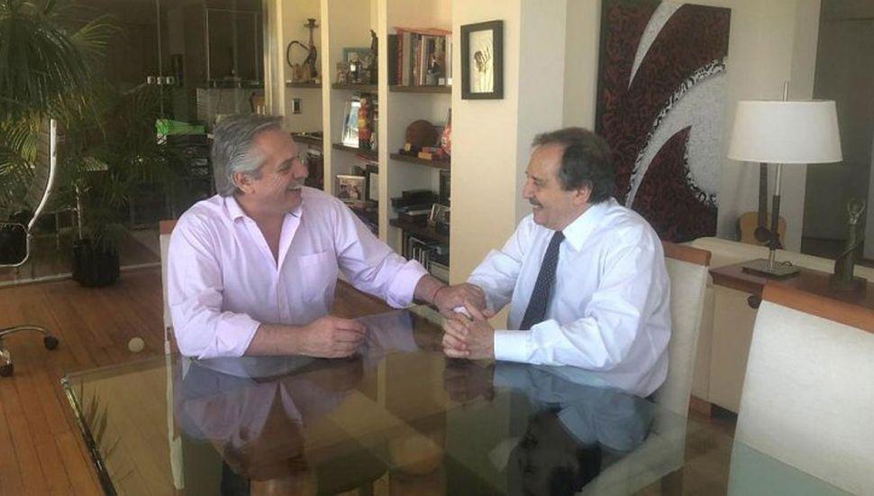 Fernández recibió a Alfonsín  y hablaron de cooperación