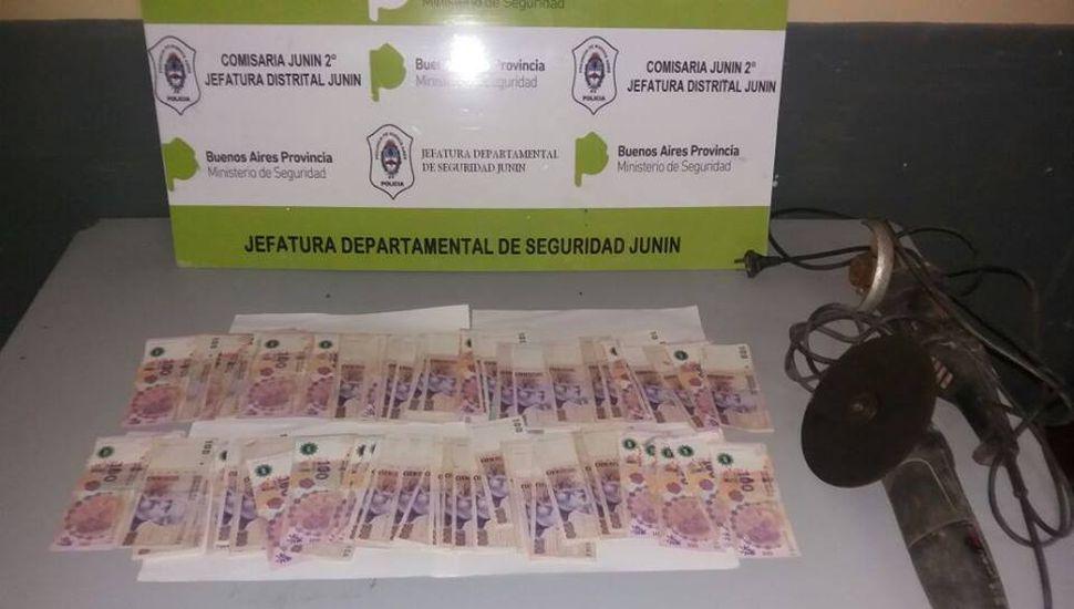Secuestraron 10 mil pesos en un allanamiento