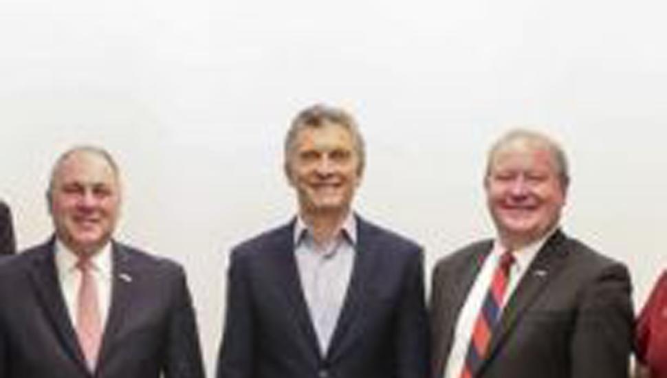 Macri con congresistas de EE. UU.