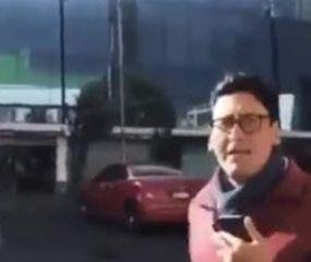 Desopilante: un periodista cubría la caída de un árbol sobre un auto y se dio cuenta que era el suyo