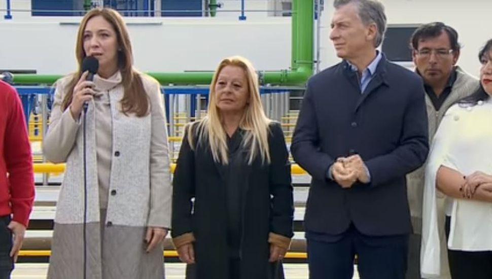 Macri y Vidal se mostraron juntos en el día del paro de Moyano