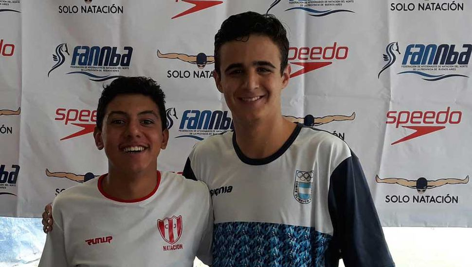 Santiago Juárez y Nicolas Cribelly representaron al Club Junín en San Fernando.