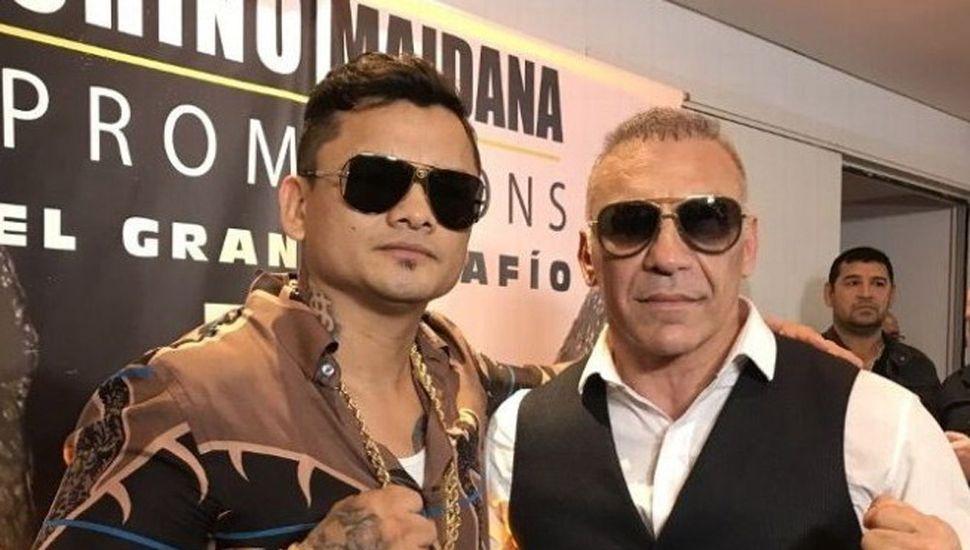 """Marcos """"Chino"""" Maidana (izquierda) y Jorge """"Acero"""" Cali no harán la exhibición el 18 de abril."""
