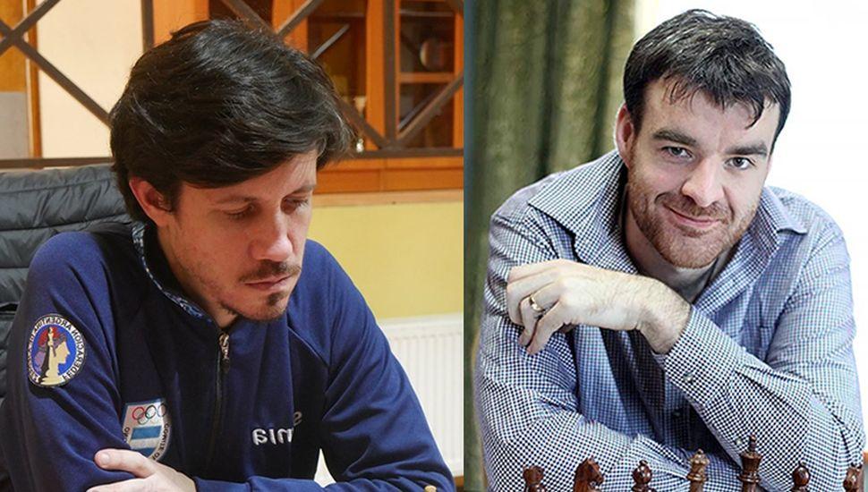 Diego Flores (derecha) entabló ayer ante el británico Jones Gawain, y el juninense no puedo avanzan a la segunda ronda.