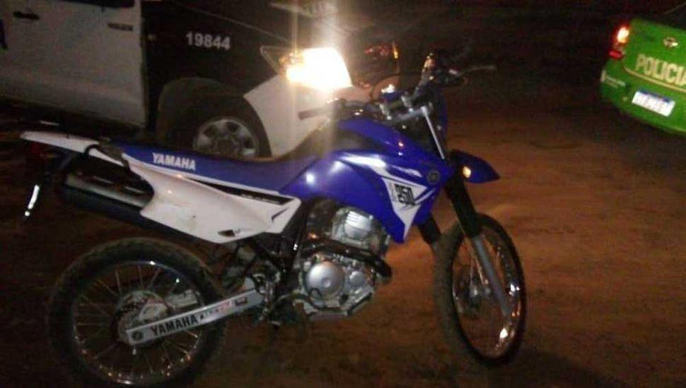Una de las motos Yamaha que recuperó personal policial en nuestra ciudad.