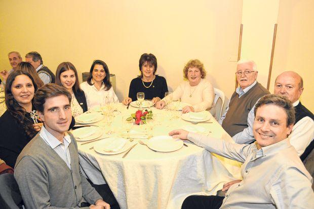 Autoridades del Rotary Junín, presentes en la cena.