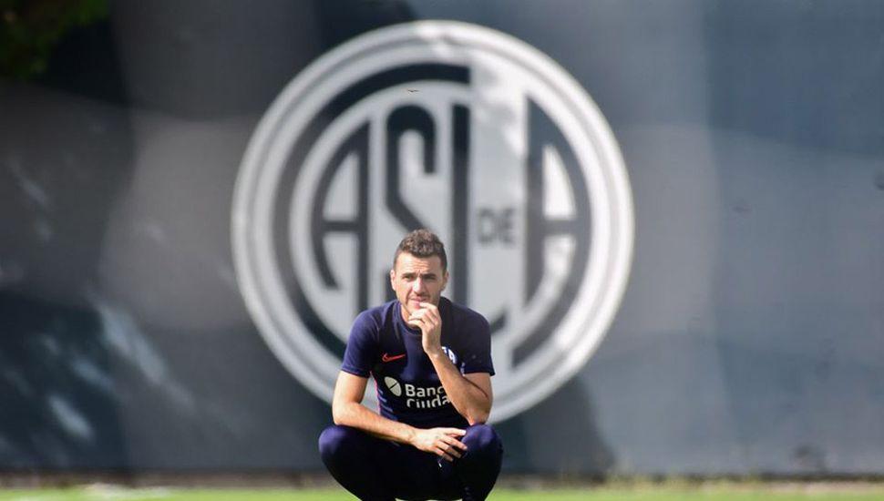 Mariano Soso, ayer, en su primer día de entrenamiento.