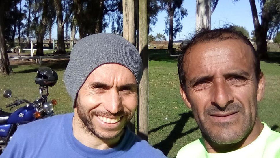 """Dos atletas de """"Galas de Junín"""" que hoy compiten, José"""