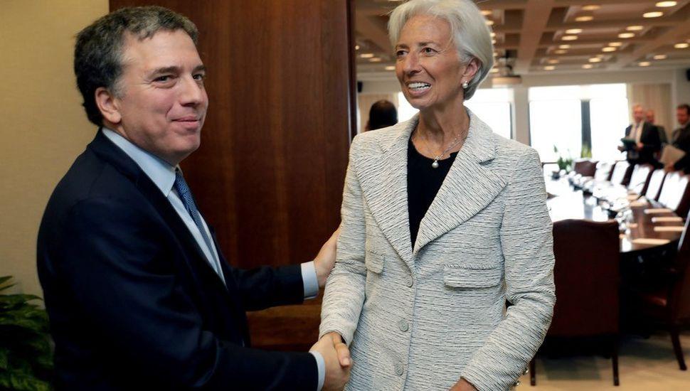 Dujovne y Lagarde coinciden  en lograr un rápido acuerdo
