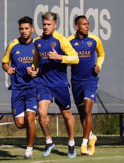 Boca entrenó con variantes pensando en Atlético Tucumán.