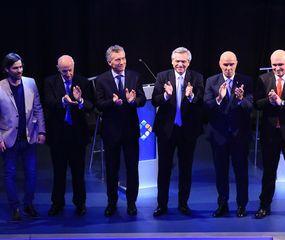 Con nuevos picantes cruces entre Macri y Fernández, debatieron los seis candidatos a una semana de la definición electoral