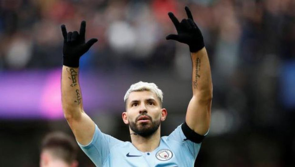 "Manchester City venció con un gol   del ""Kun"" Agüero"