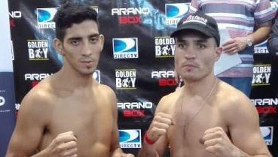 """Emiliano """"La Cobrita"""" Domínguez Rodríguez (derecha) y """"Junior"""" Amitrano pelearán hoy por tercera vez, en Lanús y televisado por TyC Sports."""