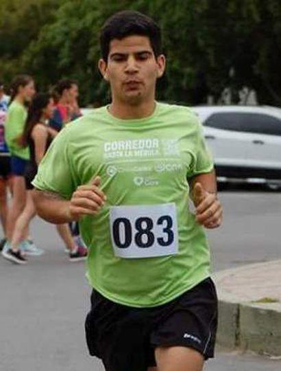 El atleta de Roberts radicado en Junín, Walter Daniel Perasso, competirá hoy en General Pinto en la prueba de 3.000 metros.