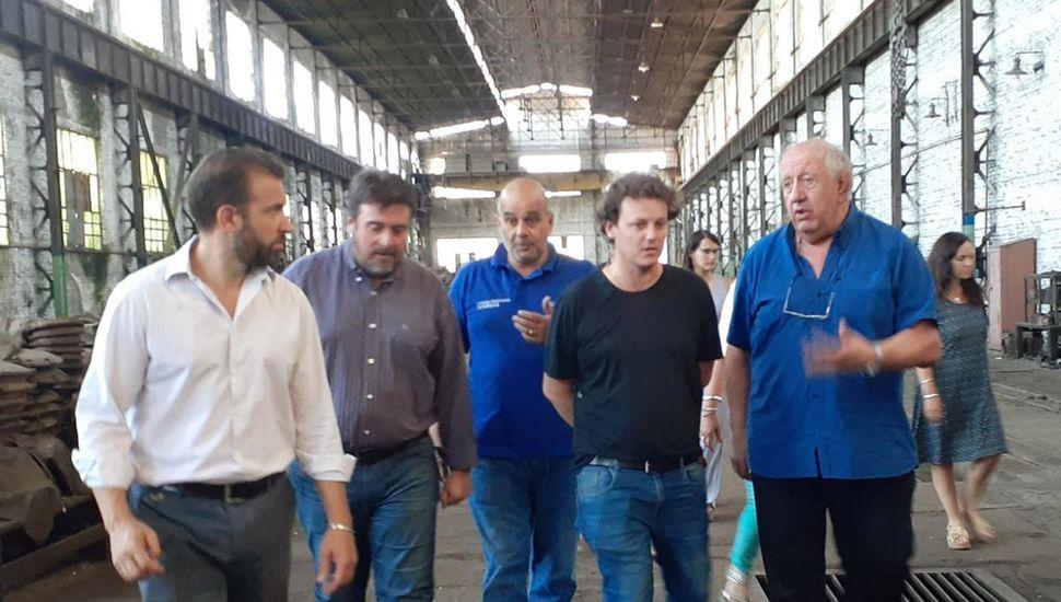 Daniel Vispo, presidente de Belgrano Cargas y Logística, ayer, en los talleres ferroviarios de Junín.