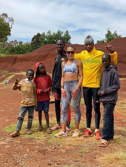 Belén Casetta, en Kenia.