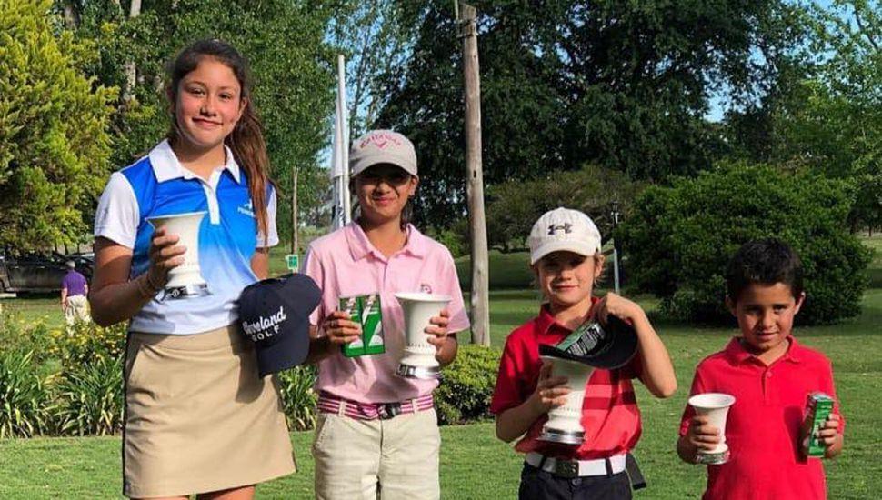 Ganadores del sábado, en el Junín Golf Club.
