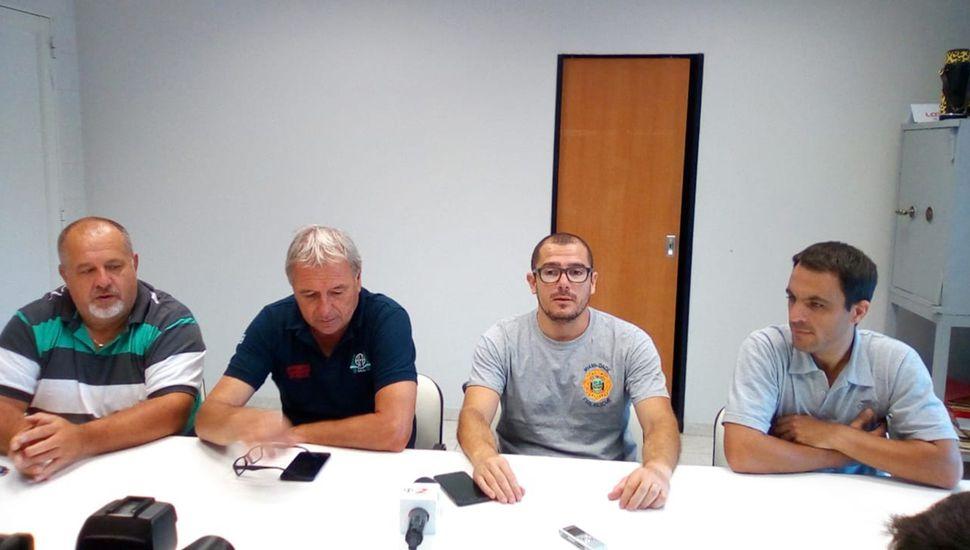 Carlos Guaraglia, tesorero; José Savi, presidente; Lucas Laborde, jefe; Lionel Daletto, segundo jefe.