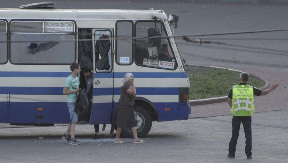 Detuvieron al secuestrador de un autobús en Ucrania