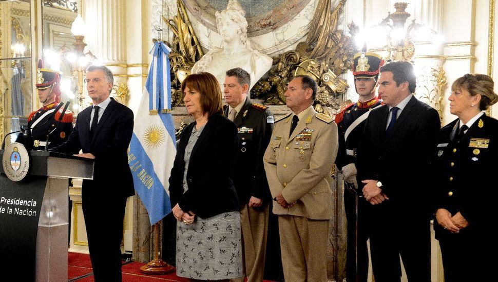 """Macri: """"No se puede vivir en una Argentina más segura si no cuidamos a los que nos cuidan"""""""