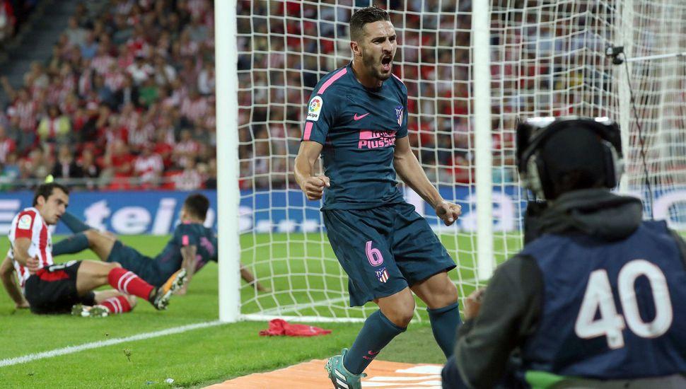 Correa lideró el triunfo del Atlético Madrid