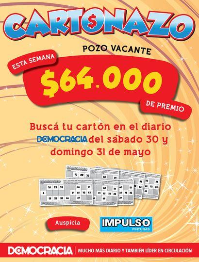 El Cartonazo quedó vacante y el pozo subió a 64 mil pesos en efectivo