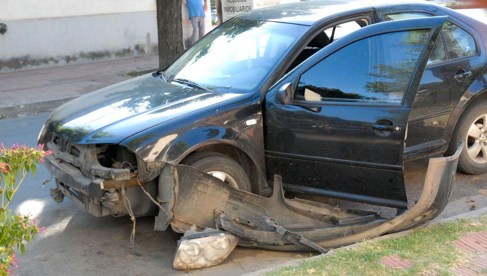 Accidente de tránsito en Avenida San Martín