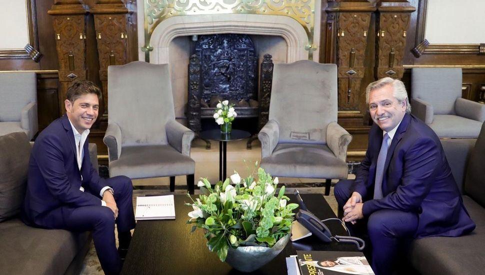 El gobernador Axel Kicillof se reúne con Alberto Fernández en Casa Rosada
