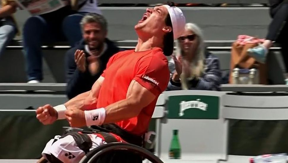 La emoción del argentino Gustavo Fernández tras ganar Roland Garros y volver al puesto número uno del mundo del ranking de tenis adaptado.