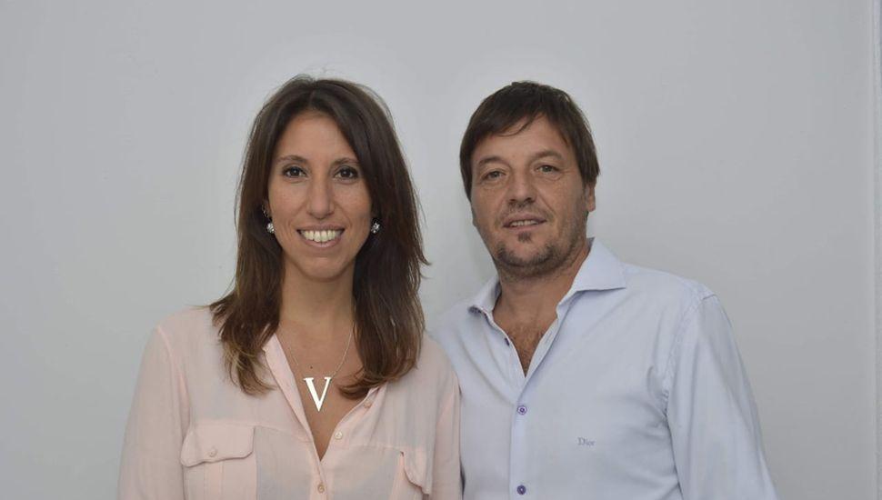 Victoria Muffarotto, junto a Rodolfo Bertone.