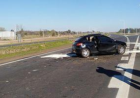 Dos personas fallecieron en un choque frontal sobre la autopista de la Ruta 7