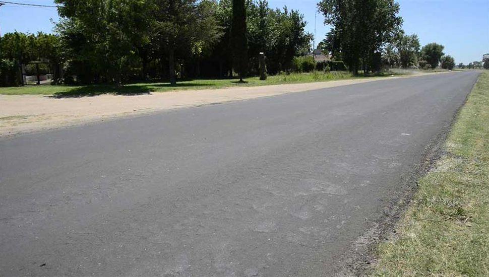Se colocó una pequeña capa de pavimento en las curvas del Barrio Real y del autódromo.
