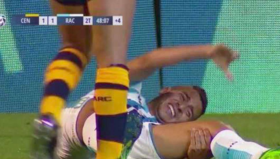 Diego González, con muestras de dolor.