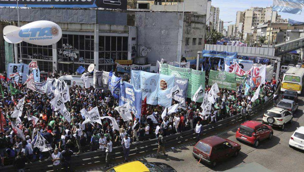 Advertencia y agresividad sindical en una jornada de movilización